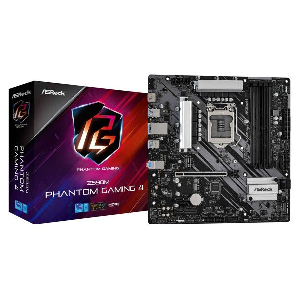Intel i5 11400 CPU 2.6GHz 6 Core, ASRock Z590M Phantom Gaming 4, 16Gb DDR4 3200Mhz, Motherboard CPU Memory Bundle